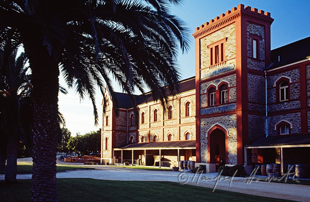 Chateau Tanunda is built of bicks