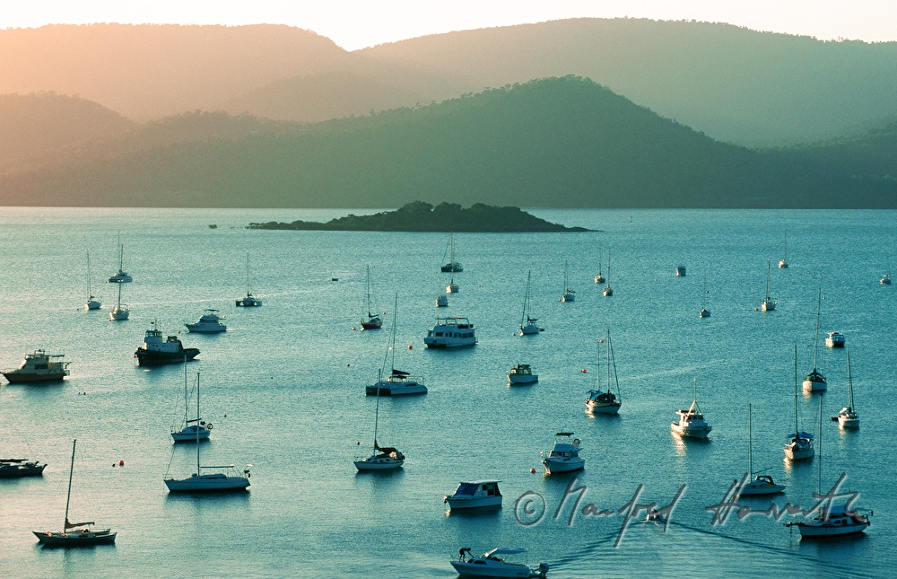 sailing boats on Airlie Beach